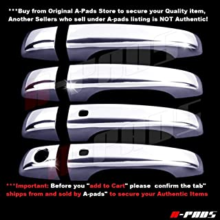A-PADS 4 Chrome Door Handle Covers for Chrysler 200 2011-2014/300 11-2015 / Dodge JOURNEY 2013-15 - WITH Smart Keyholes & WITHOUT Passenger Keyhole