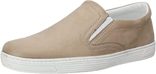 Salerno Faux Suede Round-Toe Elastic Side Panel Slip-on Shoes for Women