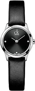 Calvin Klein Minimal Quartz Diamond Black Dial Ladies Watch K3M221CS