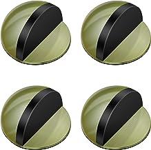 Deurstoppers, roestvrij staal, zelfklevend, set van 4 metalen magnetische deurstoppers voor glazen deuren, balkondeuren, 2...