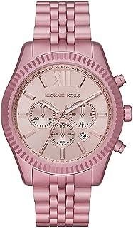 Michael Kors Lexington Men's Pink Dial Aluminium Analog Watch - MK8792