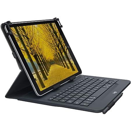 Logitech Universal Folio Funda para iPad o Tablet con Teclado Inalámbrico Bluetooth, para iPad Apple de 9-10 Pulgadas/Tablet Android o Windows, Fácil, ...