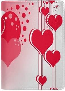 Passport Holder Inspiring Valentine's Day Passport Cover Case Wallet Card Storage Organizer for Men Women Kids