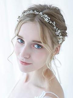 FXmimior, accessorio per capelli fatto a mano, con strass, accessorio per capelli da donna, tiara per matrimonio, ballo di...