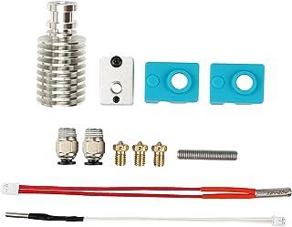 Ronyme Kit Hotend de impressora 3D, peças de bloco de aquecimento, 1,75mm, bico de latão, aquecedor de metal, tampa de sil...
