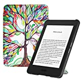 Fintie Origami Case for All-new Kindle (10th Generation, 2019 Release) - Slim Fit Stand Cover Support Hands Free Reading with Auto Sleep Wake (NOT Fit Kindle Paperwhite or Kindle 8th Gen), Love Tree