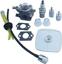 Kipa Carburetor Air Filter Fuel Line Spark Plug Maintenance Kit for Zama C1U-K47 C1U-K52 C1U-K29 ECHO SRM2100 GT2000 GT2100 PAS2000US PAS2000 PAS2100 PAS2110 SHC1700 SHC2100 GT2000 GT2100 Trimmer Carb