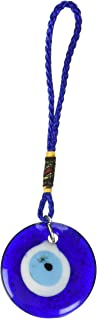 Best Luos Cultural Goods Single Sided Blue Glass Evil Eye Talisman- Good Luck Charm, Home, Office, Car Decoration, Blessing Ornament, Reflects Negative Energy, 1.5 inches Reviews
