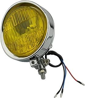 Beautyexpectly Motorcycle Chrome Amber Lens Light 12V H4 5.75
