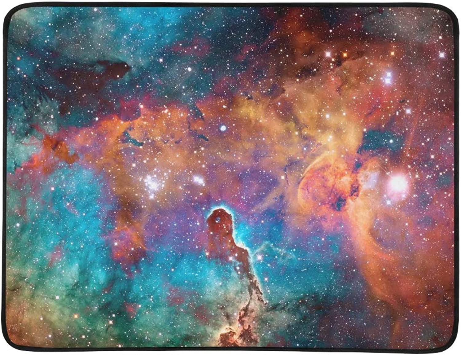 colorful Deep Space Universe Concept Portable and Foldable Blanket Mat 60x78 Inch Handy Mat for Camping Picnic Beach Indoor Outdoor Travel