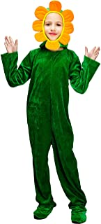 DSplay Kids Blooming Sunflower Green Plant Costumes