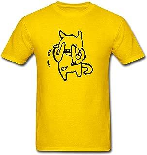 Ai Gebei Men's Tumblr Static Radiohead Crying Band Vinyl Decal Stickers Short Sleeve T-Shirt