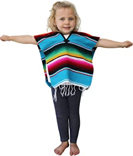 Del Mex Youth Kids Toddler Child Mexican Serape Poncho Costume Ages 2-14