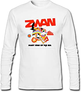 Hefeihe DIY Zwan Mary Star of The Sea Men's Long-Sleeve Fashion Casual Cotton T-Shirt