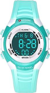 Relojes de Pulsera Electrónicos para Niños Niños Digital Relojes Deportes–5 ATM Reloj Deportivo Impermeable al Aire Libre ...