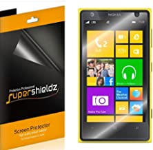 Supershieldz (6 Pack) for Nokia Lumia 1020 Screen Protector, High Definition Clear Shield (PET)