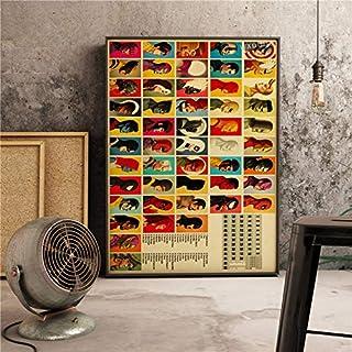 XWArtpic Clásico Retro Decorativo Vintage HD American Movie Poster Superhero Character Superpower Bar Cafe Decoración para el hogar Lienzo Pintura 60 * 100 cm