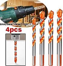 Nobran Brocas Multifuncionales de Cerámica de Vidrio Perforación Agujero de Trabajo de 6-12 mm Material Premium de Uso Amplio Taladro