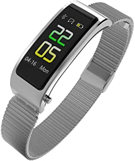 SXXYXH Monitores De Actividad, Pantalla A Color 0.96TFT Auriculares Bluetooth Llamada HD Calorías Monitor De Frecuencia Cardíaca Registro De Movimiento Pulsera Inteligente Multifunción,D