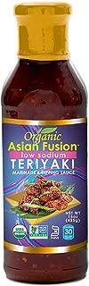 Asian Fusion Low Sodium Teriyaki Sauce, 15 Ounce - Non-GMO, Organic Certified, Kosher & Gluten Free