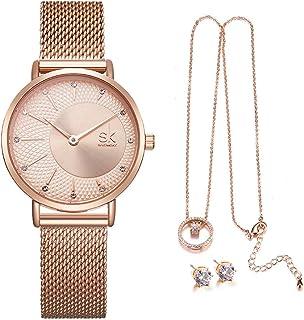 SK - Set di orologi da donna in oro rosa, regalo di Natale