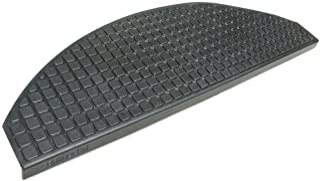 Rubber-Cal Block-Grip Non-Slip Rubber Tread Stair Mats (6 Pack), Black