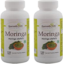 Ayurvedic Life Moringa Tablets 120 count Pack of 2