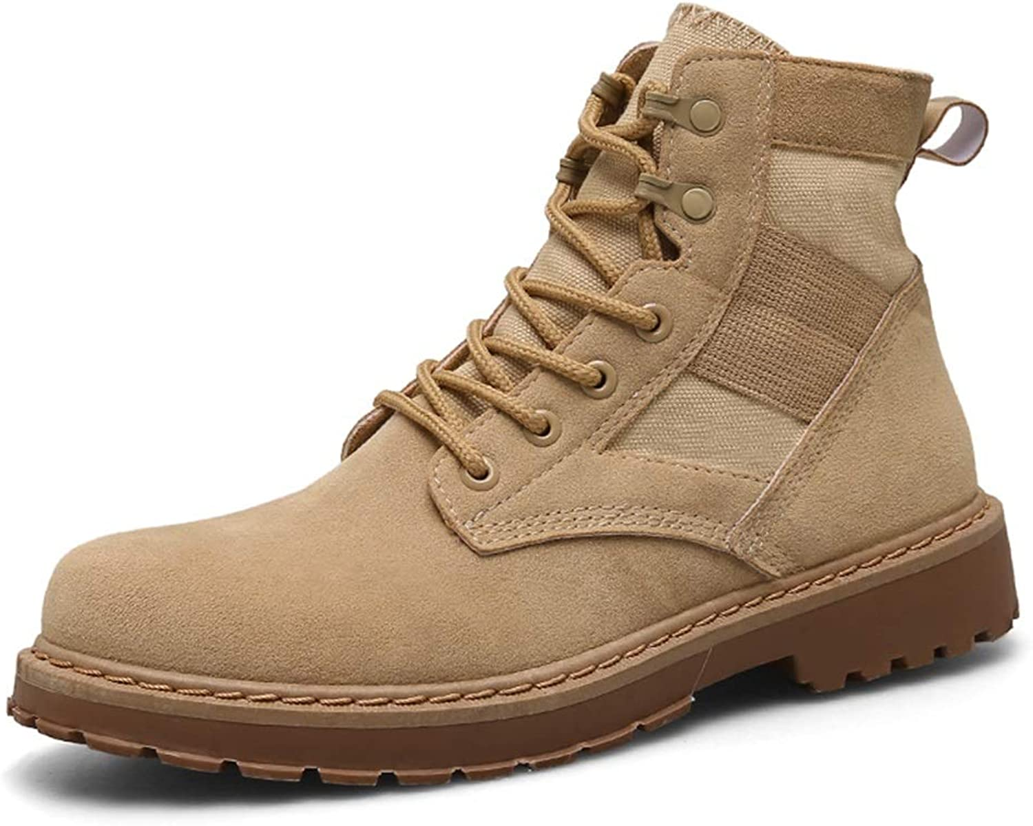 ChengxiO Men's Boots Martin Boots Tooling shoes Men's New England Martin Boots Men's Boots High shoes Desert Boots Men's Boots