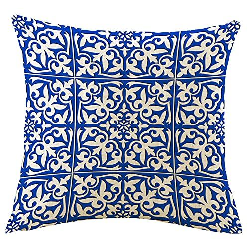 Cojines Cama Azul Cobalto cojines cama  Marca WangSiwe