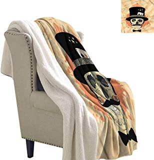 Acelik Baby Blanket Skull Magician Hat Ghosts Circus Blanket for Family and Friends W59 x L47