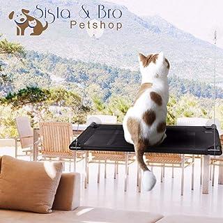 Sista & Bro Petshop Hamac de fenêtre Chat, Perchoir à Chat, étagère fenêtre pour Chat, lit couchette Chat Siège de fenêtre...