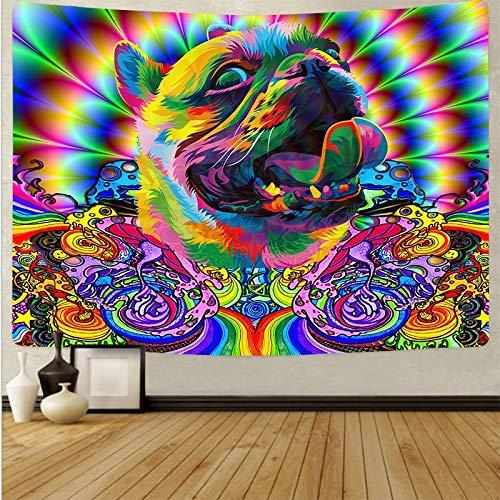 KHKJ Tapiz de Mandela para Colgar en la Pared, tapices psicodélicos, Alfombra de Playa Hippie, decoración de Dormitorio, Tela de Pared artística A1 150x130cm