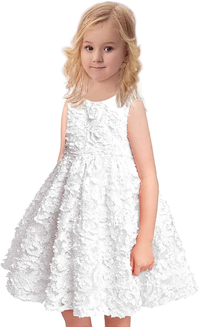 VEOAY Petal Flower Girl Princess Dress Party Dress for Toddler Girl Pageant Dresses 1-6Years