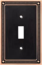 Franklin Brass W35058-VBC-C Classic Beaded single Toggle Switch Wall Plate / Switch Plate / Cover, Bronze with Copper Highlights