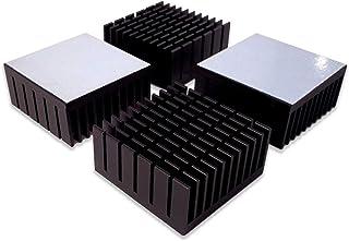 Easycargo 4pcs 40mm Heatsink Kit 40mm x 40mm x 20mm + 3M8810 Thermal Conductive Adhesive Tape, Cooler Aluminium Heat Sink ...