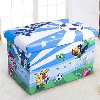 Almacenamiento taburete plegable rectángulo Organizador Caja niños dormitorio ahorro de espacio herramienta de ropa infantil de juguetes Organización Cambio del hogar Banco de calzado multifunción Cam