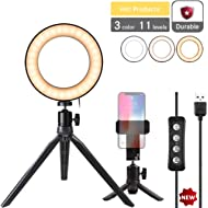 """Natwag 6"""" Selfie Ring Light with Tripod Stand & Cell Phone Holder for YouTube Video and..."""