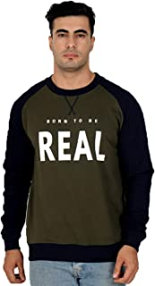 Veirdo Men's Cotton Round Neck Sweatshirt