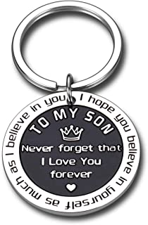 To My Son Inspirational Gifts I Love You Keychain From Step Mother Mom Dad Sweet 16th 18th 21st Birthday Graduation Christ...
