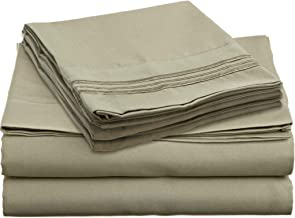 Brils-ri Premium Bed Sheets Luxury Resort Hotel 1800 Collection Sheet Sets Percale Microfiber Fabric Linen Deep Pocket Soft Cooling Non-Wrinkle Dryer Safe Fade Resistance Queen Green