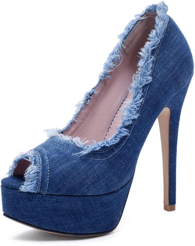 Btrada Women Peep Toe Summer Shallow Sandals Thin High Heels Platform Party Wedding Ladies Sexy shoes