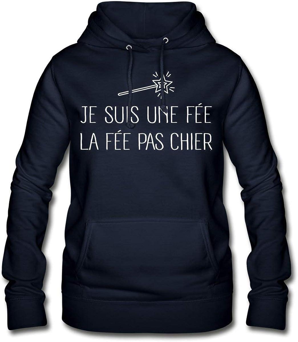Spreadshirt La f/ée Pas Chier Sweat /à Capuche Femme