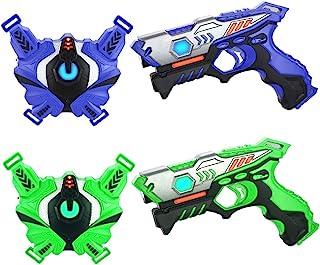 Laser Tag Guns Set with Vests, Infrared Guns Set of 2 Players