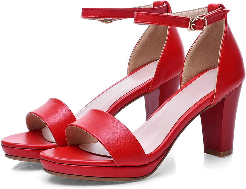 Bara Xiao Xiao Xiao ZhouZhou kvinnor Sandals 2018 sommar High klackar Sandal klackar Sandals Kvinnor Concise Party Dress skor Kvinna Storlek 34 -43  det senaste