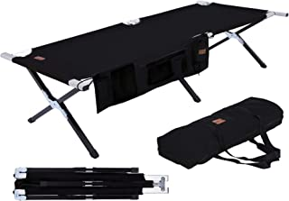 Camping Cot for Adults - Folding Sleeping Cots - Portable Military / Army Camp & Beach Bed - Foldable & Heavy Duty Fold Up...