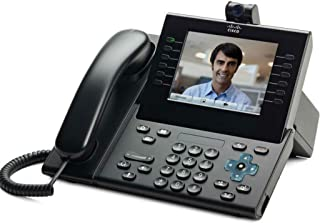 Cisco CP-9951-CL-CAM-K9 Unified IP Endpoint Slimline Handset Phone with Camera Charcoal