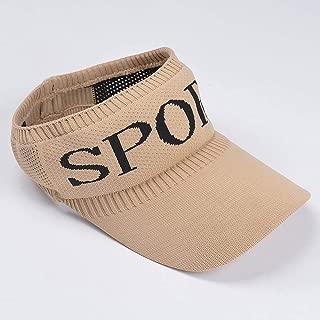 Asdfnfa Sun Hat Sun Hat Women's Empty Top Sports Play Sun Hat Outdoor Travel Cap (Color : Brown)