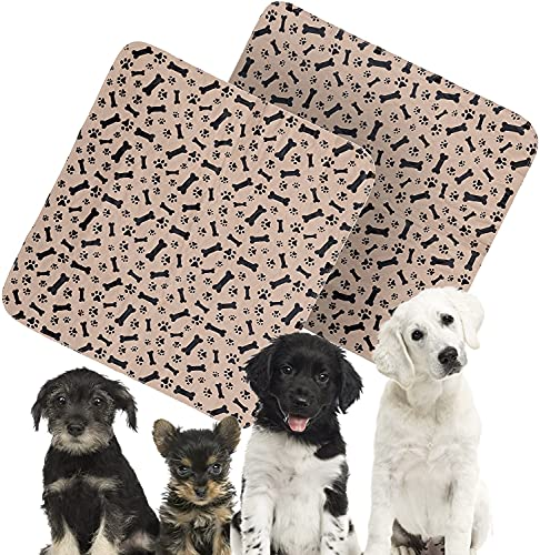 Anie&Coco Premium Washable and Reusable Dog Pee Pads (2 pack) of 32x36 - Reinforced, Anti-Slip, Waterproof, Training, Traveling and Whelping pad - Super Absorbent, Machine Washable & 100% Leak Proof