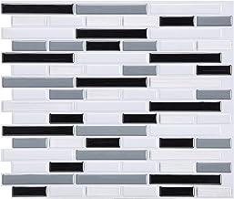 YTXTT Adesivo de parede 3D, azulejo de cristal autoadesivo, parede de azulejo de mosaico, faça-você-mesmo, epóxi, casa, à ...