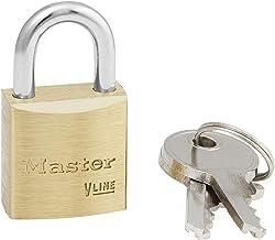 Master Lock V Lijn 20mm Sleutel Type 132 Messing Hangslot Gesleuteld Alike